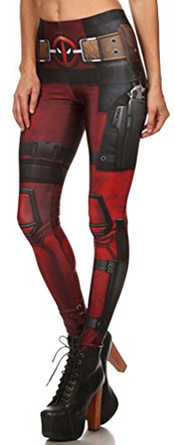Thenice Women's Deadpool elasticity Leggings Pencil Pants