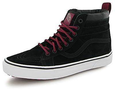 Vans Unisex Adults SK8-Hi MTE Fashion Shoes Black Beet Red, 7.5