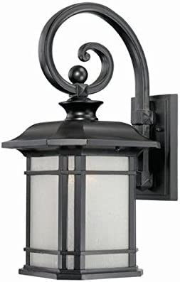 Acclaim 8112BK Somerset Collection 1-Light Wall Mount Outdoor Light Fixture, Matte Black