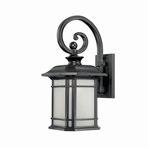 Acclaim 8112BK Somerset Collection 1-Light Wall Mount Outdoor Light Fixture, Matte Black For Sale
