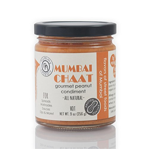 Marinade Butter Spicy (Mumbai Chaat Gourmet Peanut Condiment - Spicy Indian Flavors, US Grown Peanuts, Vegan, Dairy Free, No Palm Oils)