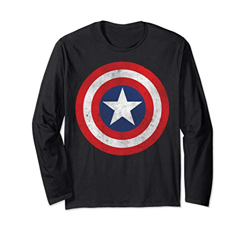 Marvel Captain America Classic Shield Long Sleeve Tee ()