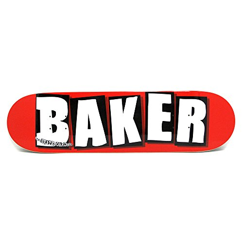 口ひげ分お嬢BAKER DECK ベイカー デッキTEAMBRAND LOGO RED/WHITE 8.125