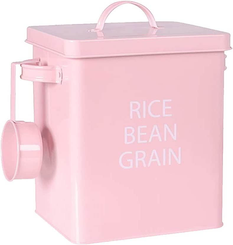 Baluue Pet Food Container Airtight Dog Pet Food Storage Canister Bucket with Serving Spoon for Dog Cat Puppy Kitten (White)