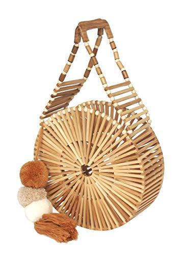 Bamboo Handbag for Women | Handmade Tote Bag (Round)