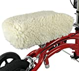 KneeRover Universal Knee Walker Knee Rest Pad Cover - Plush Synthetic Sheepskin Pad for Rolling Scooter