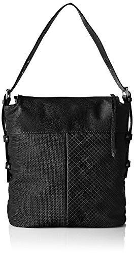 s.Oliver Hobo Bag - Bolso de hombro Mujer Negro (Schwarz 9999)