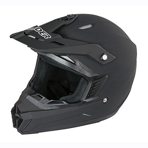 Raider Wildfire MX Helmet (Matte Black, (Raider Atv Helmets)