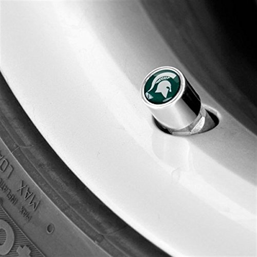 (NCAA Tire Valve Stem Covers (1/2 Inch, Michigan State Spartans))