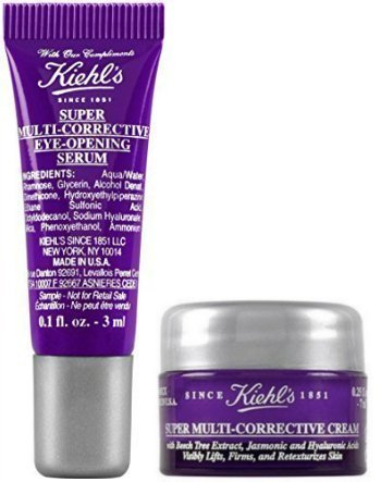Kiehl's Super Multi Corrective Eye Opening Serum & Super Multi Corrective Cream Travel Size (Kiehls Multi Corrective Eye Serum)