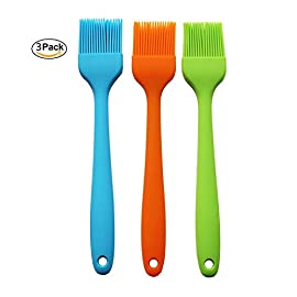 Winlux Set of 3 Silicone Basting & Pastry Brush Oil Brushes for Cake Bread Butter Baking Tools Safety Heat Resistant Barbecue Basting Brush Set 137 NO MORE HAIR IN YOUR FOOD: Our high performance flexible winlux silicone brushes are premium quality and will not melt, warp, discolor, or shrink like regular plastic or wooden brushes. The bristles will not break or shed in your food like old brushes Safe and healthy for your family - We use these utensils ourselves and want the best for our family and yours. Our FDA-grade silicone is safety-tested, heat resistant up to 480°F, and guaranteed 100% BPA-free Heat-resistant and easy on non-stick pans - you can do whatever you want, secure that it won't hurt the pan,no matter what you do.