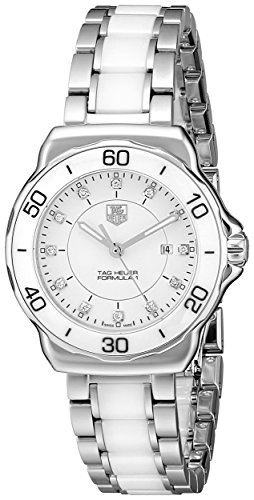 Tag Heuer Women's WAH1315.BA0868 Formula 1 Stainless Steel Sport Watch with Diamonds (Tag Heuer Womens Diamond Watches)