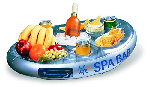 (Life Floating Spa Bar Inflatable Hot Tub Side Tray for Drinks and Snacks)