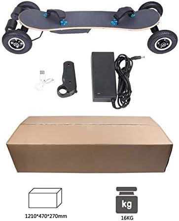 XLY Planche à roulettes Tout Terrain, 42IN Longboard Skateboard Électrique avec Vitesse maximale de 40km/h Et 4 Roues 20CM Mountainboard pour la Descente Libre en Croisière Dansante