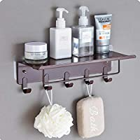 HOME CUBE® Bathroom Shelf Free Punching Wall-Mounted Storage Rack Towel Holder with Hook Storage Shelf - Random Color