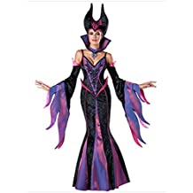 ManorGirl 7pcs Deluxe Queen Fairytale Witch Party Dress Costume For Women