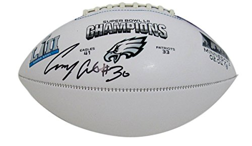 Corey Clement Eagles Autographed/Signed Super Bowl LII 52 Football JSA 135442
