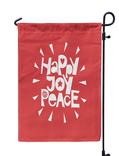 Kutita Peace Joy Love Garden Flag 12X18 Inch, Holiday s Happy Joy Peace Greeting Holiday s Happy Weatheproof Double Sided Decorative Outdoor Flag for Garden Yard