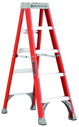 Medium Steel Rivet (Louisville Ladder FS1505 300-Pound Duty Rating Fiberglass Step Ladder, 5-Feet)