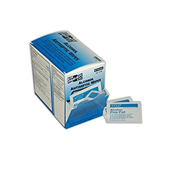 Pac-kit pk12110 Alcohol toallitas antiséptico, pequeño, blanco/azul (Pack de