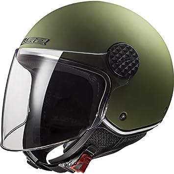 Amazon.es: LS2 OF558 Sphere Casco Moto Jet Abierto para Motocicleta Ciclomotor y Scooter con Visera Larga Cascos de Moto Mujer y Hombre ECE Homologado Mate Militar Verde XL (61-62cm)