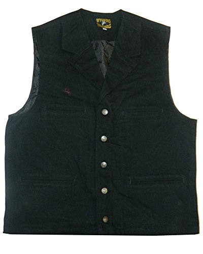Men's Wyoming Traders Cotton Canvas Bronco Vest (Large, (Bronco Vest)