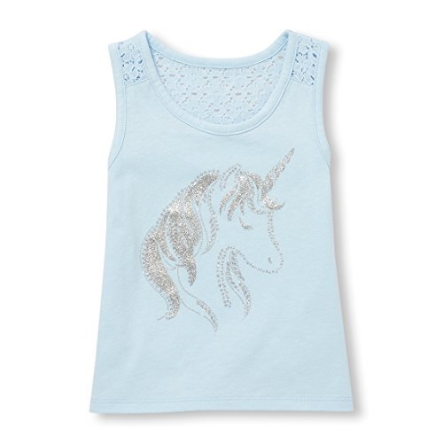 Baby Girls Racerback Casual Tank Top, Party Blue 98138 5T ()