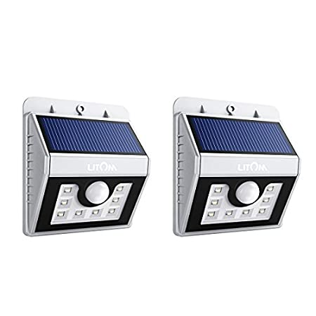 Litom 8-LED Solar Powered Motion Sensor Light