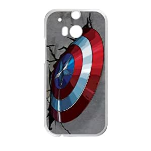 HTC One M8 Cell Phone Case White Captain America Vibranium Shield VIU098910