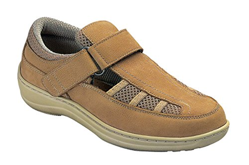 Orthofeet 872 Women's Comfort Diabetic Extra Depth Sandal ShoeTan 7 Medium (C) Velcro by Orthofeet