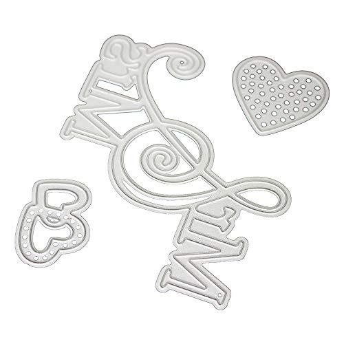 Yu2d  Flower Metal Cutting Dies Stencils DIY Scrapbooking Album Paper Card Craft L(Sliver)]()