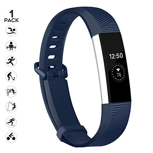 sunyfeel Compatible with Alta HR and Alta Band Replacement, Fashion Sports Silicone Personalized Replacement Bracelet with Metal Clasp for Alta HR/Alta (Small, Dark Blue) ()
