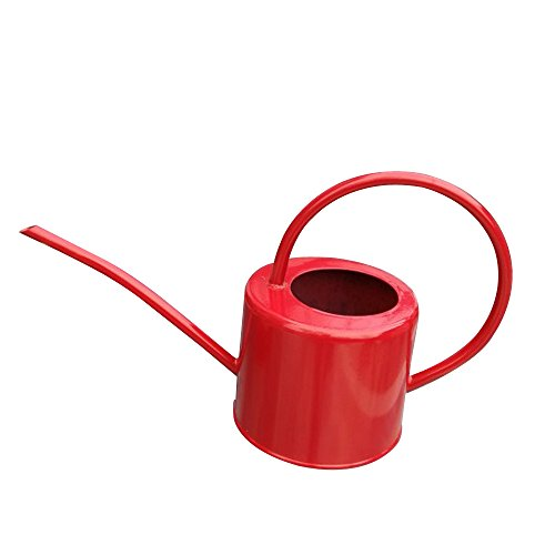 Layboo Retro Style Gorgeous Long Spout/Iron Watering Can Gardening Tool 1.7 L(red) by Layboo