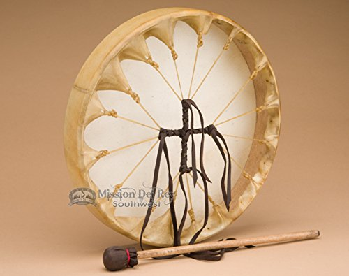East West Side Set (Native American Deer Hide Hoop Drum 12