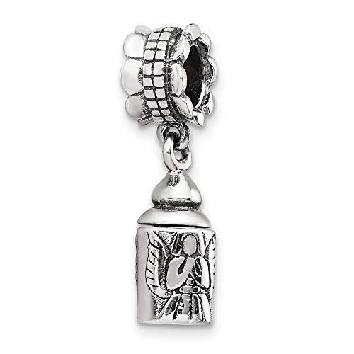 925 Sterling Silver Charm For Bracelet Angel Ash Dangle Bead Religious Fine Jewelry Gifts For Women For Her Angel Sterling Silver Keychain