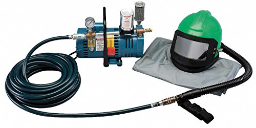Supplied Air Pump Package Not for Silica, 3/4 HP, People Served: 1, Headgear Included: Nova 2000 - Package Pump Supplied Air
