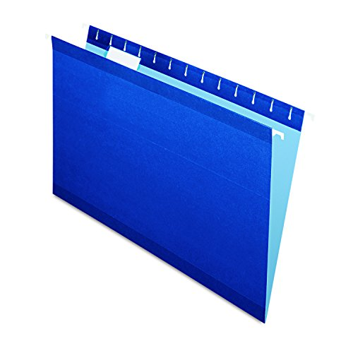 Pendaflex Reinforced Hanging Folders, Legal Size, Navy, 1/5 Cut, 25/BX (04153 1/5 NAV) -
