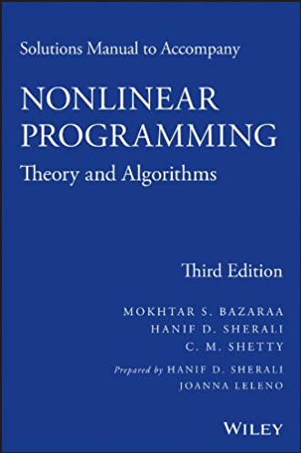 solutions manual to accompany nonlinear programming theory and rh amazon com Algorithm Psychology Algorithm Examples