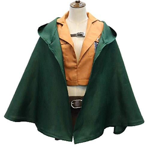 Hayabusa Costume Unisex Attack on Titan Style Cloak, Jacket, Skirt, Belt, Set Size XXL