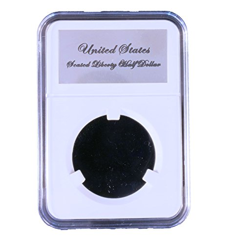 Little Bear Elite Certified-Style Coin Holder for Capped Bust Reeded Edge 1836 - 1839 and Seated Liberty 1839 - 1891 Half Dollar