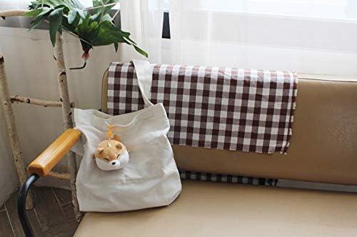 Feel Soon Retail Fluffy Doll Keyring Plush Pillows Shiba Inu Dog