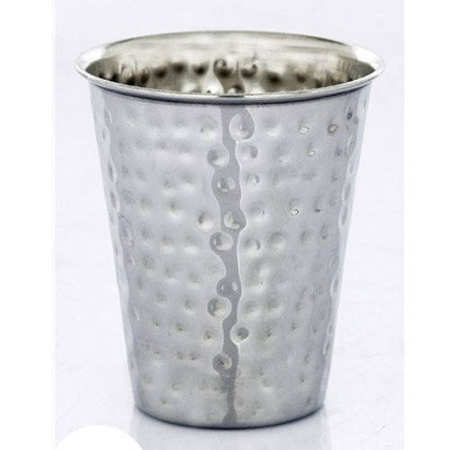 Stainless Steel Hammered Kiddush Cup