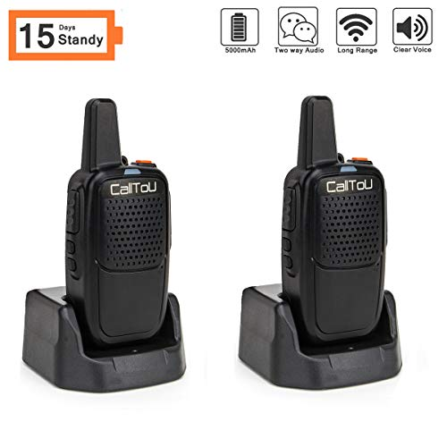 Intercoms Wireless for Home Portable Caregiver Pager 15 Days Long Standy 2 Miles Wireless Intercom System for Camping/Hiking/Fishing/Traveling Home Communication System for Kids Elderly Adults 2 Pack