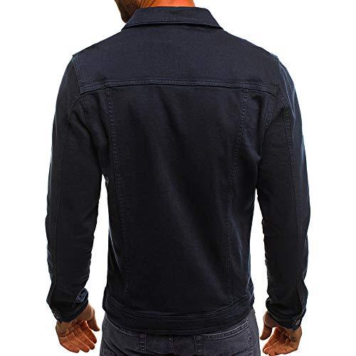 Abrigo Franela Chaqueta Otoño Gasa Denim Guess Vintage Los Color Invierno Hombres Armada De Gant Blusa De De Solido ALIKEEY Botón RvZqWPB