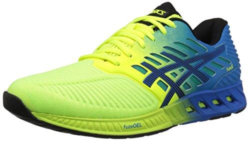 Asics Men S Fuzex Running Shoe Safety Yellow Black Electric Blue