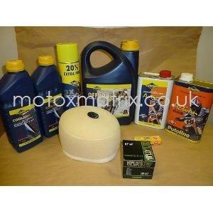 Raptor 700 06-12 Quad Service Prep Kit Air/Oil Filter/Sparkplug/Coolant/Chain Lube Putoline