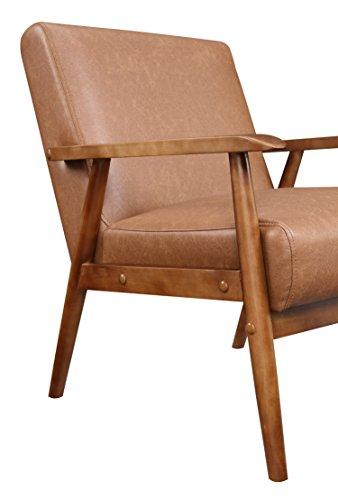 Pulaski Ds D030003 329 Wood Frame Faux Leather Accent