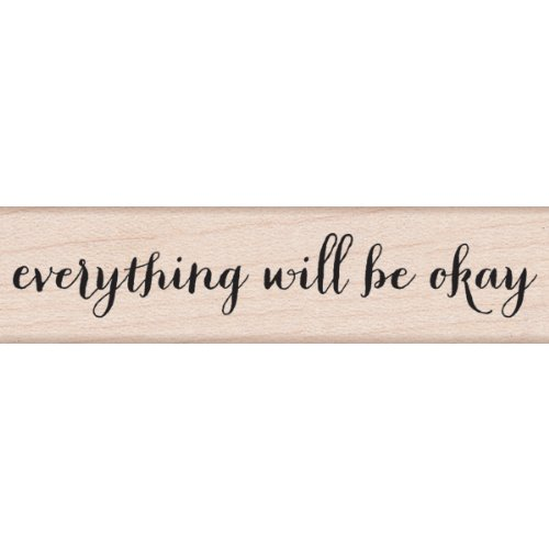 UPC 085700886598, Hero Arts Will Be Okay Script Woodblock Rubber Stamp