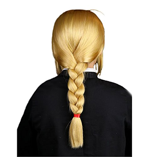 Angelaicos Unisex Braids Costume Halloween Wig Long Yellow -