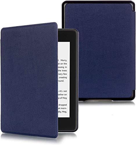 ProElite Ultra Slim Smart Flip Cover for All New Amazon Kindle Paperwhite 10th Generation  Dark Blue